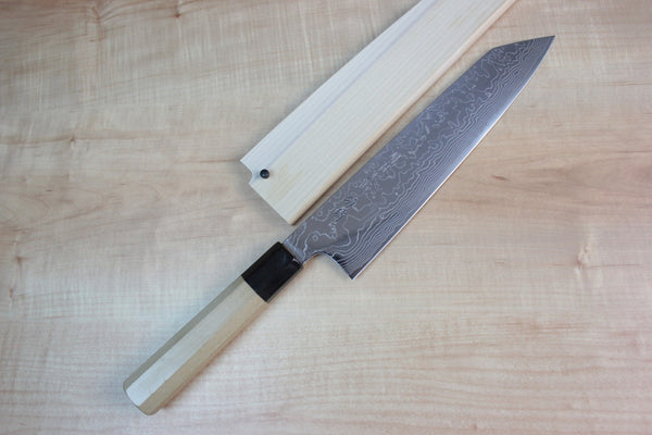 Fu-Rin-Ka-Zan R-2 Damascus Wa Series Kiritsuke (210mm to 270mm, 3 sizes) - JapaneseChefsKnife.Com