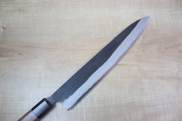 Fu-Rin-Ka-Zan Aogami Super Kurouchi Series FAB-8SW Wa Sujihiki 240mm (9.4 inch, Octagon Shaped Walnut-Wood Handle) - JapaneseChefsKnife.Com