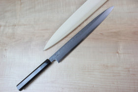 Fu-Rin-Ka-Zan Limited, Blue Steel No.1 Suminagashi Yanagiba (270mm and Yanagiba 300mm, 2 Sizes) - JapaneseChefsKnife.Com