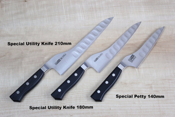 Glestain Petty 018TUK Special Petty Knife 180mm (7inch) / Right Handed Glestain Special Petty (140mm to 210mm, 3 sizes)