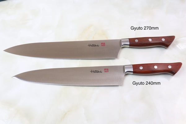 Hattori Forums FH Series Gyuto (210mm to 270mm, 3 sizes, Cocobolo Wood Handle) - JapaneseChefsKnife.Com