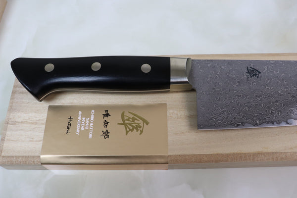 Hattori 傘 SAN Series Limited Edition, KD Series Cowry X  Damascus Gyuto 270mm (10.6 inch, SAN-KD-5) - JapaneseChefsKnife.Com