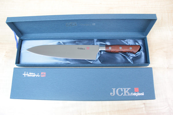 Hattori Forums FH Series FH-4C Santoku 170mm (6.6inch, Cocobolo Wood Handle) - JapaneseChefsKnife.Com