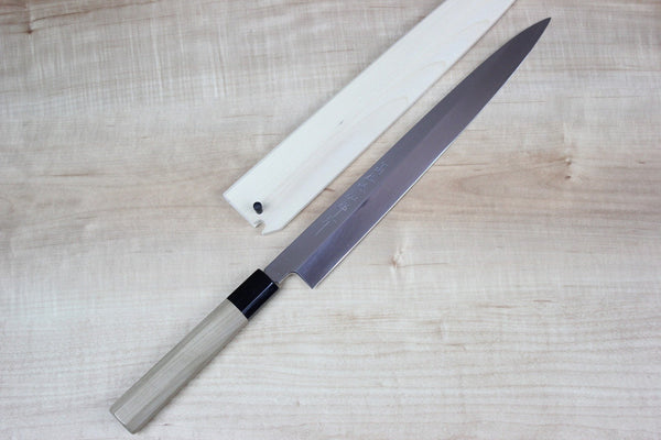 Hattori VG-10 Mirror Polished Blade Yanagiba (300mm and 330mm, 2 sizes) - JapaneseChefsKnife.Com