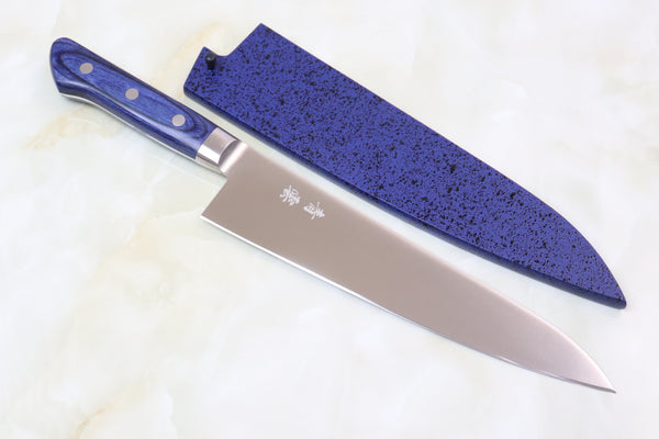 JCK Natures Blue Clouds AUS-8 Basic Series BCA-4 Gyuto 210mm (8.2 inch) - JapaneseChefsKnife.Com