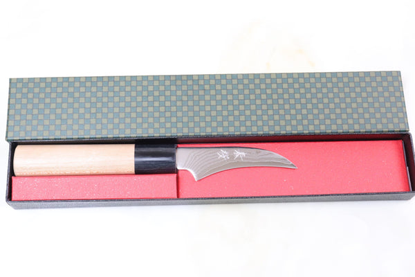 JCK Natures Sakura Series HS-1PA Wa Paring 70mm (2.7 inch, Sheepsfoot Blade) - JapaneseChefsKnife.Com