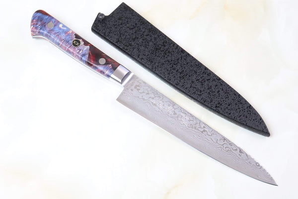 Kagayaki Petty JCK Original Kagayaki NOVEL- Limited Edition Custom R-2 Damascus Series KNLTD-6 Petty 150mm (5.9 inch, Forged Blade)
