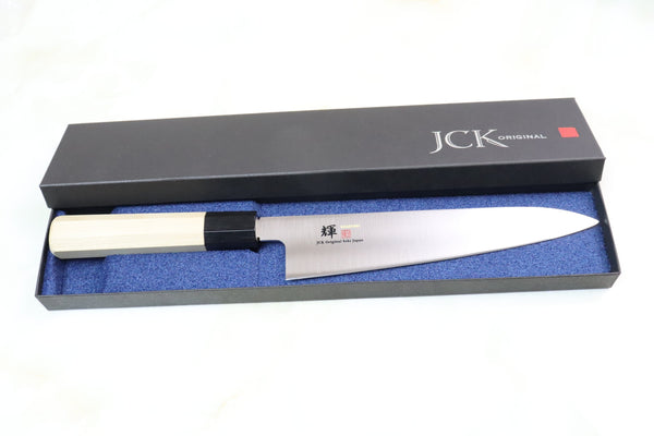 JCK Original Kagayaki VG-10 Series Wa Gyuto (210mm to 270mm, 3 sizes) - JapaneseChefsKnife.Com