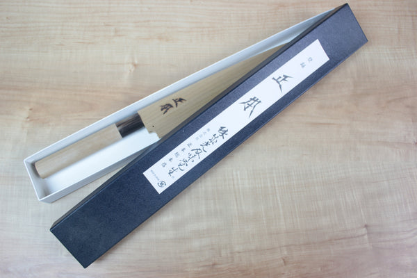 Masamoto KS Series Hon Kasumi White Steel No.2 Kama Usuba (150mm to 225mm, 5 sizes) - JapaneseChefsKnife.Com