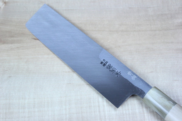 Mizuno Tanrenjo Akitada Hontanren Series Blue Steel No.2 Usuba (150mm to 240mm, 7 sizes) - JapaneseChefsKnife.Com