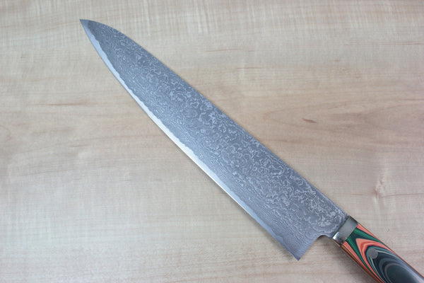 "Mr. Itou Gyuto Mr. Itou R-2 Custom Damascus Gyuto 265mm (10.4inch) ""Japanese Lacquer Handle"" Type 1 (IT-529)"