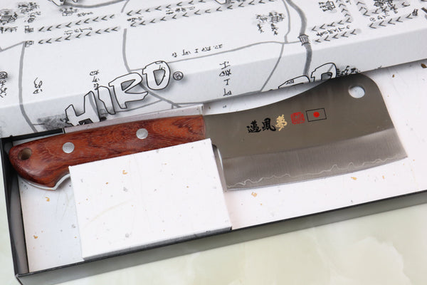 HIRO-MYHOME (SHIKI) Chopper MCP-2 110mm (4.3inch, 440C Clad Blade, Bubinga Wood Handle) - JapaneseChefsKnife.Com