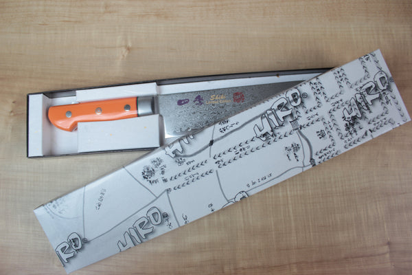 Shiki Gyuto SHIKI 色彩 Shikisai Series Gyuto (180mm to 240mm, 3 sizes, Fresh Orange Corian Handle)