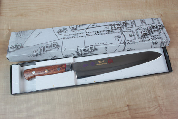 Shiki Gyuto SV-2 French Style Chef Knife 210mm (8.2inch) SHIKI VG-10 Handmade French Style Chef Knife 210mm (8.2 inch, African Redsandal wood Handle)