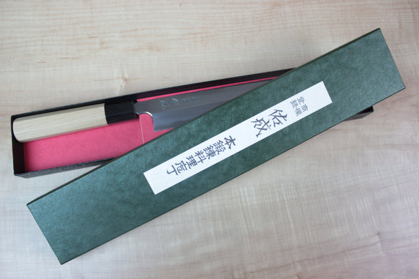Sukenari Hon Kasumi White Steel No.2 Series Deba (120mm to 210mm, 4 sizes) - JapaneseChefsKnife.Com