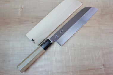 Sukenari Kama Usuba SH-9KW Kama Usuba 195mm / Right Handed Sukenari Honyaki Series White Steel No.1 Kama Usuba 195mm (7.6 inch, Without Hamon)