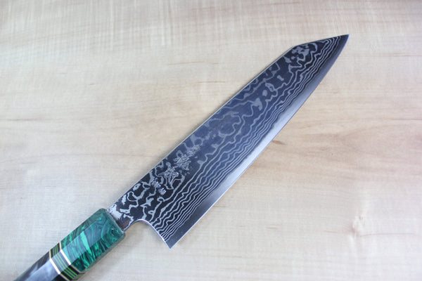 Custom Limited Edition, Sukenari HAP-40 Nickel Damascus Kiritsuke 210mm (8.2 inch, SCL-41) - JapaneseChefsKnife.Com