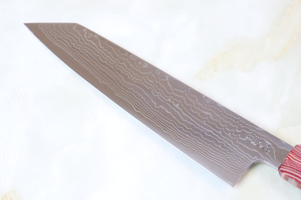Custom Limited Edition, Sukenari R-2 Damascus Wa Series Kiritsuke 240mm (9.4 Inch, SCL-139) - JapaneseChefsKnife.Com