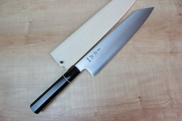 Sukenari HAP-40 Series Kiritsuke (210mm to 270mm, 3 sizes, Octagon Shaped Ebonywood Handle Version) - JapaneseChefsKnife.Com