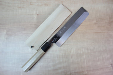 Sukenari Usuba SH-9W Usuba 195mm / Right Handed Sukenari Honyaki Series White Steel No.1 Usuba 195mm (7.6 inch, Without Hamon)