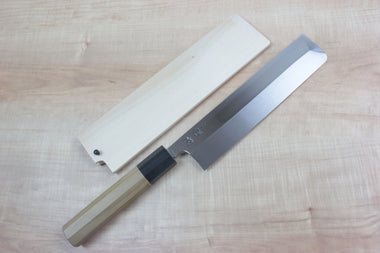 Sukenari Usuba SH-10W Usuba 210mm / Right Handed Sukenari Honyaki Series White Steel No.1 Usuba 210mm (8.2 inch, Without Hamon)