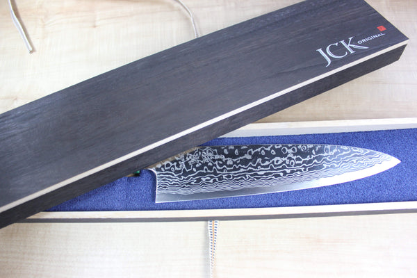 Custom Limited Edition, Sukenari HAP-40 Nickel Damascus Wa Gyuto 210mm (8.2 inch, SCL-27) - JapaneseChefsKnife.Com