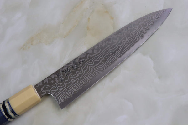 Custom Limited Edition, Sukenari HAP-40 Nickel Damascus Wa Gyuto 210mm (8.2 inch, SCL-55) - JapaneseChefsKnife.Com