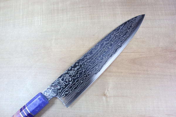 Custom Limited Edition, Sukenari HAP-40 Nickel Damascus Wa Gyuto 240mm (9.4 inch, SCL-35) - JapaneseChefsKnife.Com
