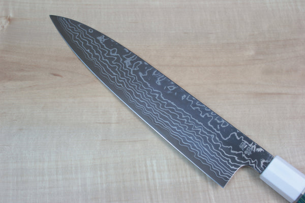 Custom Limited Edition, Sukenari ZDP-189 Nickel Damascus Wa Gyuto 240mm (SCL-1) - JapaneseChefsKnife.Com