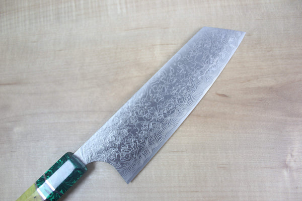 Custom Limited Edition, Takeshi Saji R-2 Damascus Bunka 165mm (6.4 Inch, STCL-53) - JapaneseChefsKnife.Com