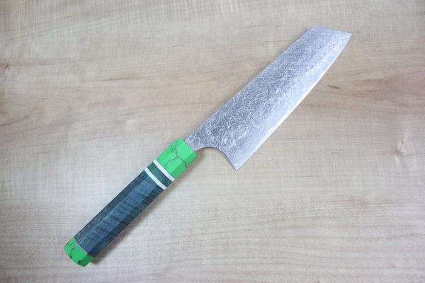 Custom Limited Edition, Takeshi Saji R-2 Damascus Bunka 165mm (6.4 Inch, STCL-54) - JapaneseChefsKnife.Com
