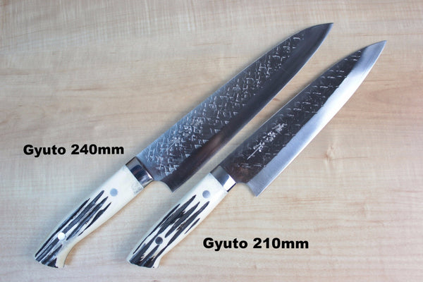 Takeshi Saji SRS-13 Custom Series Gyuto (210mm and 240mm, 2 Sizes, Stag Bone Handle) - JapaneseChefsKnife.Com