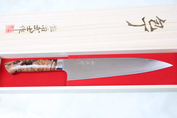 Takeshi Saji Gyuto SMT-24 Gyuto 210mm (8.2 inch) Takeshi Saji SUMIT ― Limited Edition Custom Series SMT-24 VG-10 Rainbow Damascus Gyuto 210mm (8.2 inch)