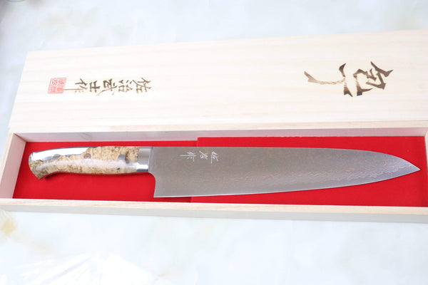 Takeshi Saji Gyuto SMT-32 Gyuto 240mm (9.4 inch) Takeshi Saji SUMIT ― Limited Edition Custom Series SMT-32 VG-10 Rainbow Damascus Gyuto 240mm (9.4 inch)
