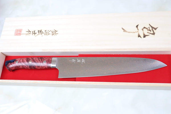 Takeshi Saji Gyuto SMT-35 Gyuto 240mm (9.4 inch) Takeshi Saji SUMIT ― Limited Edition Custom Series SMT-35 VG-10 Rainbow Damascus Gyuto 240mm (9.4 inch)