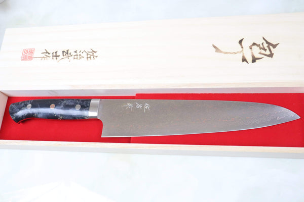 Takeshi Saji Gyuto SMT-36 Gyuto 240mm (9.4 inch) Takeshi Saji SUMIT ― Limited Edition Custom Series SMT-36 VG-10 Rainbow Damascus Gyuto 240mm (9.4 inch)