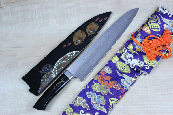 "Takeshi Saji Gyuto Takeshi Saji Urushi & Makie Series ""Tropical Fish Motif"" Gyuto 270mm (10.6inch)"