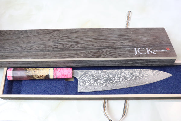 Custom Limited Edition, Takeshi Saji R-2 Damascus Wa Series Wa Gyuto 210mm (8.2 Inch, STCL-96) - JapaneseChefsKnife.Com
