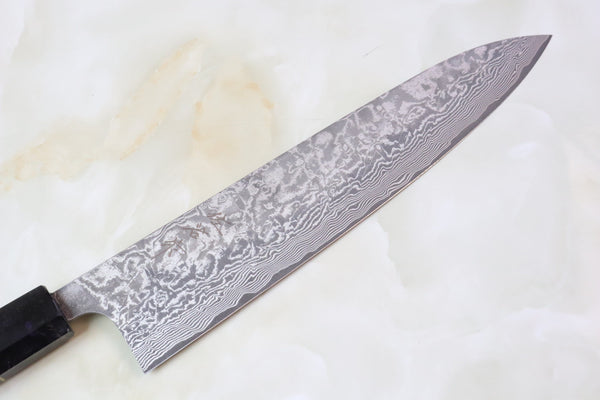 Custom Limited Edition, Takeshi Saji R-2 Damascus Wa Series Wa Gyuto 240mm (9.4 Inch, STCL-105) - JapaneseChefsKnife.Com