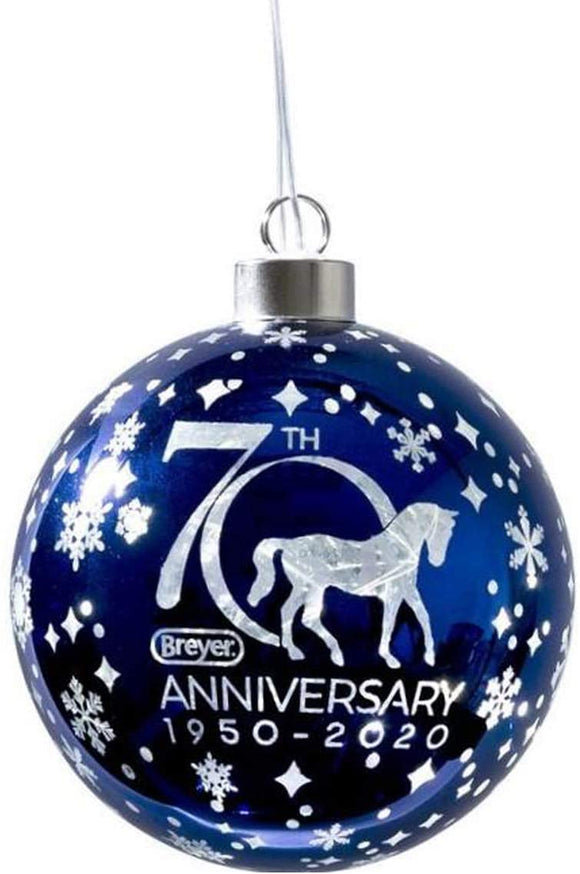 Breyer Horses 2020 Holiday Collection | 70th Anniversary Glass Ball Ornament | Model #700682 70th Anniversary Glass Ball Ornament