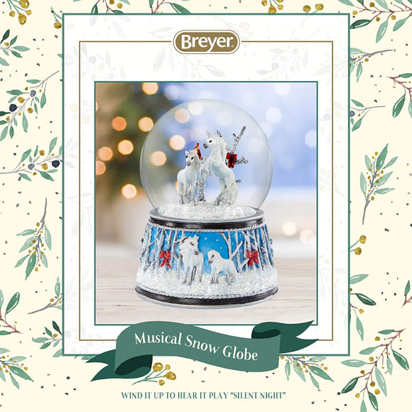 Breyer Horses 2020 Holiday Collection | Musical Snow Globe - Enchanted Forest | Model #700241 Musical Snow Globe - Enchanted Forest