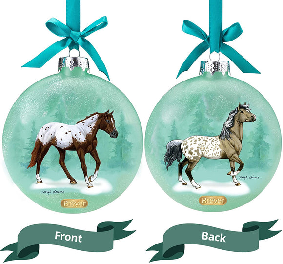 Breyer Horses 2020 Holiday Collection | Artist Signature Ornament - Appaloosas | Model #700824 Artist Signature Ornament - Appaloosas