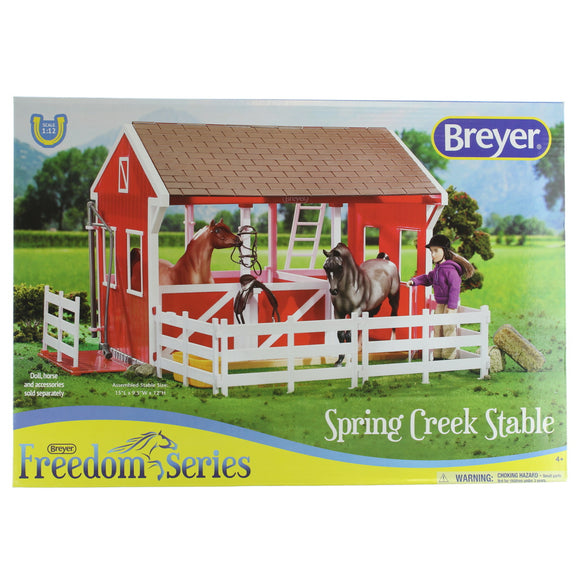 Breyer Freedom Series (Classics) Spring Creek Horse Stable Set | 15