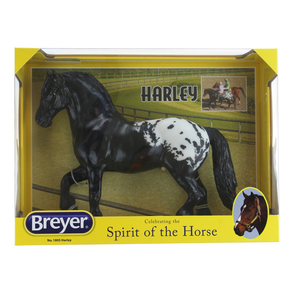 Breyer Traditional Series Harley Harlequin Draft Tack Pony | Horse Toy Model | 1:9 Scale | Model #1805
