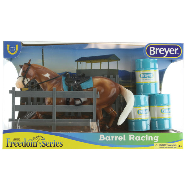 "Breyer Freedom Series (Classics) Barrel Racing Horse Playset | Model Horse Toy | 1:12 Scale (Classics) | 9"" L x 6"" H 