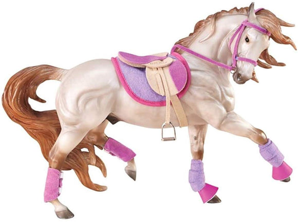 Breyer 2050 Traditional English Riding Set Horse Accessory 1:9 Scale Pink Purple