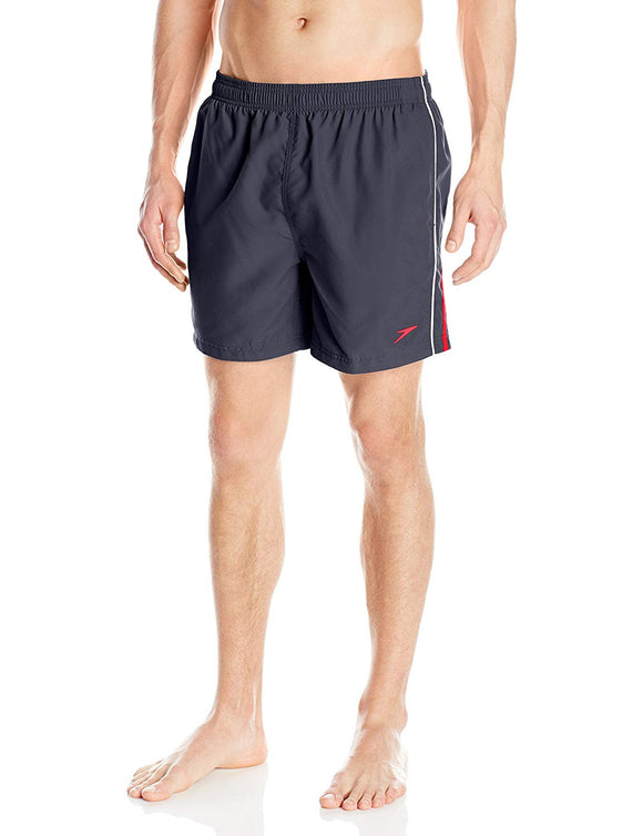 Speedo Men's Horizon Splice Volley 16 Inch Swimwear Shorts Granite Size X-Large