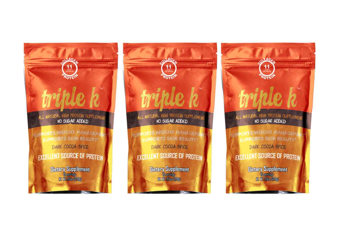 Triple K 15 Servings 3 Pack