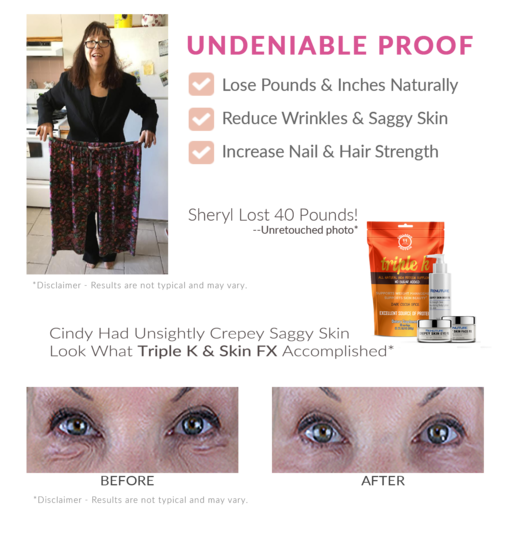 Lost Pounds and Inches Naturally. Reduce Wrinkles and Saggy Skin. Increase Nail and Hair Strength.