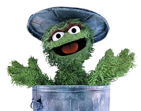Oscar the Grouch, Childhood Mentor and Collector of Valuable Trash